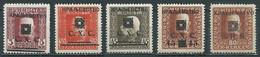 Yougoslavie Royaume Des Serbes, Croates & Slovènes YT N°87-92-93-94-98 Surchargé Kraljevstvo Neuf ** (voir Description) - Unused Stamps