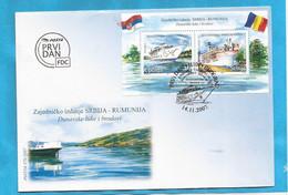 SRB-FDC   2007 SERBIA SRBIJA  ROMANIA DONAU NOVI SAD ORSOVA  NAVI  SCHIFFE FDC LUX - Serbia