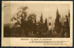 """CPSM S/w AK Israel/Palestine  1940 """"Jerusalem:-Le Jardin De Gethsemane ,belebt   """" 1 AK Used - Israel"""