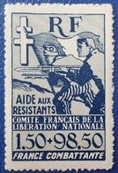 R2269/207 - 1943 - COLONIES FR. - AIDE AUX RESISTANTS - N°65a NEUF** - 1944 Entraide Française