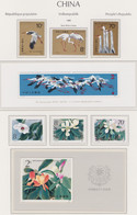 CHINA 1986, 2 Series Incl. Corresponding Souvenir Sheets (Cranes, Flowers), Unmouted Mint - Collections, Lots & Series