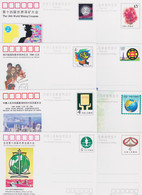 CHINA 1990, Lot Of 8 Commemorative Postcards Unused, Superb - Ohne Zuordnung