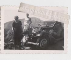 PHOTO - VOITURE Coupé BUGATTI Modèle à Ident - Vacances Au LAVANDOU (Var) En Famille En 1938, 6 Ph Dont 2 Voit BUGATTI - Cars