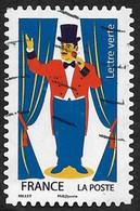 FRANCE 2017  -  YT 1488  -  Cirque: Monsieur Loyal -   Oblitéré - Adhésifs (autocollants)