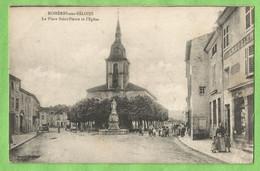 A163   CPA   ROSIERES-aux-SALINES   (Meurthe Et Moselle)   La Place Saint-Pierre Et L'Eglise   +++++ - Sonstige Gemeinden