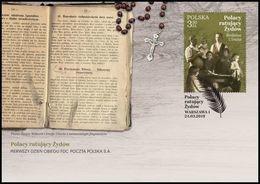 POLAND 2019 Judaica Poles Saving Jews, Ulma Family Righteous Among The Nations FDC - WW2
