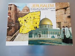 Jerusalem, Mehrbild, Altstadtbezirk, Felsendom (gelaufen, 1986), #H46 - Israel