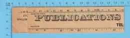Publicité, Regle En Papier De Publication Louise Montreal, Canada, Distributeur De Cahier De Tricots Français - Unclassified