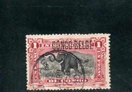CONGO BELGE 1908 O - 1894-1923 Mols: Gebraucht