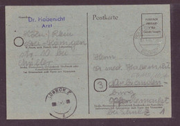 Postkarte Postage Paid 6 Rpf Gebühr Bezahlt Koln Bayenthal - Lübeck 1946 - Zonder Classificatie