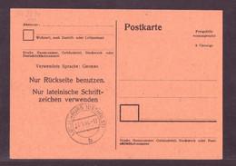 Postkarte Freigebühr Vorausgezahlt 6 Pfennige 31.1 1946 Lotuenburg - Sin Clasificación