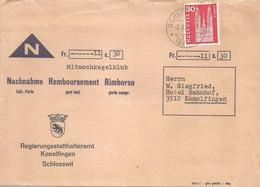 """NN Brief  """"Regierungsstatthalteramt Konolfingen, Schlosswil""""  (Mittwoch Kegelclub)           1966 - Covers & Documents"""