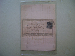 """FRANCE - """"OBJETS CHARGES OR RECOMMANDES"""" FORM BY ST. AFFRIQUE IN 1890 IN THE STATE - 1877-1920: Période Semi Moderne"""