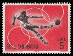 Soccer Football San Marino #786 1963 MNH ** - Neufs