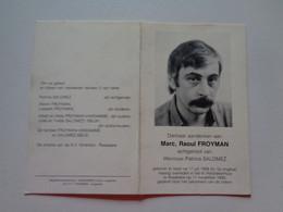 Doodsprentje/Bidprentje  Marc Raoul FROYMAN  Ieper 1956-1990 Roeselare (Echtg Patricia SALOMEZ) - Religion & Esotérisme