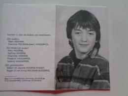 Doodsprentje/Bidprentje  Kristof HOORNE  Veurne 1980-1995 Roeselare Ongeval    Leerling V.T.I. Diksmuide - Religion & Esotérisme