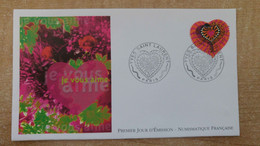 FDC N°3297 : COeurs 2000 D'Yves Saint Laurent. Carnet. Adhésif. - 2000-2009