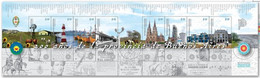 ARGENTINA 2021. Farm School, Lighthouse, Fishing Port, Railways Station, Cathedral, Refinery, Etc. Sheetlet (8 Stamps) - Nuevos