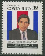 Costa Rica 1987 Friedensnobelpreis: Oscar Arias Sanchez 1341 Postfrisch - Costa Rica