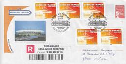 2008 10ème Anniversaire Du Stade De France Inauguré Pour La Coupe Du Monde De Football 1998:recommandé Sur Entier Postal - Storia Postale