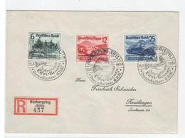 Drittes Reich 1939 ,  Nr 695-97 Auf Einschreibbrief - Storia Postale
