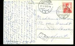 HANDGESCHREVEN BRIEFKAART Uit 1912 Van INTERLAKEN ZWITSERLAND Naar AMERSFOORT  (12.072c) - Cartas