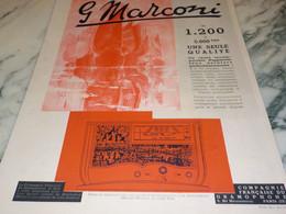 ANCIENNE PUBLICITE  PHONO RADIO PATHE MARCONI  1936 - Altri