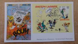 FDC N°3371 : Fête Du Timbre. Gaston Lagaffe D'André Franquin. Bloc - 2000-2009