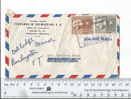 Venezuela Maracaibo To New York Forwarded To Burlington VT Aug 13 1949.................(Box 6) - Venezuela