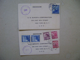 AUSTRIA - 2 CARDS SENT FROM WIEN TO NEW YORK (USA) IN 1947 IN THE STATE - 1945-60 Brieven
