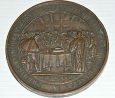 MEDAILLE CUIVRE 1er SYNODE NATIONAL Des EGLISES Réformées De FRANCE 1859 XIX N°8 - Religion & Esotérisme