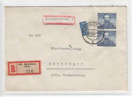 Bund Nr 150 , Mehrfachfrankatur - Storia Postale