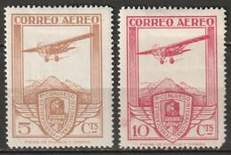 Spain 1930 Sc C12-3  Air Post MH* - Ungebraucht