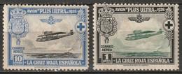 Spain 1926 Sc CB2,CB5  Air Post MH* Disturbed Gum/thins - Ungebraucht