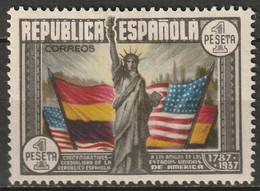 Spain 1938 Sc 585  MH* Some Disturbed Gum - 1931-50 Ungebraucht
