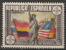Spain 1938 Sc 585  MH* Partial Gum/crease - 1931-50 Unused Stamps