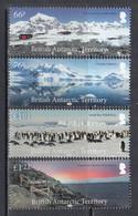 2018 British Antarctic Territory Views Penguins Complete Set Of 4 MNH @ Below Face Value - Unused Stamps