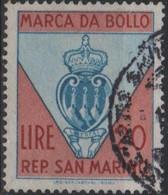 Repubblica Di San Marino - MARCA DA BOLLO - REVENUE - LIRE 20 - Usata - Used - Unclassified