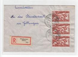 Saarland , Nr 250 , Mehrfachfrankatur - Covers & Documents