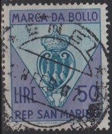 Repubblica Di San Marino - MARCA DA BOLLO - REVENUE - LIRE 50 - Usata - Used - Unclassified