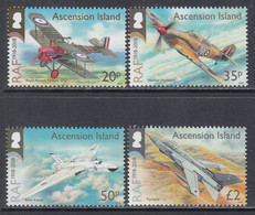2018 Ascension RAF Royal Air Force Military Aviation Aircraft  Complete Set Of 4 MNH @ Below Face Value - Ascension