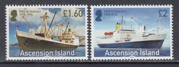 2018 Ascension RMS St. Helena Ships Complete Set Of 2 MNH @ Below Face Value - Ascension