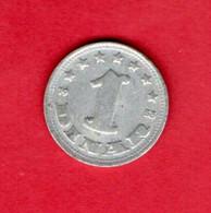 YUGOSLAVIA, 1963 , 1 Dinar, Aluminium, KM36, C3727 - Yugoslavia