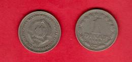 YUGOSLAVIA, 1965 , 1 Dinar, Copper Nickel, KM47, C3725 - Yugoslavia