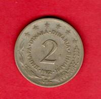 YUGOSLAVIA, 1972 , 2 Dinara,Copper Nickel Zinc, KM57, C3723 - Yugoslavia