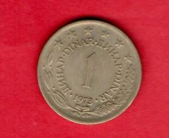 YUGOSLAVIA, 1973 , 1 Dinar, Copper Nickel Zinc, KM59, C3726 - Yugoslavia