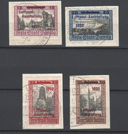 Danzig , 4 Briefstücke Mit Nr 232-35 - Dantzig