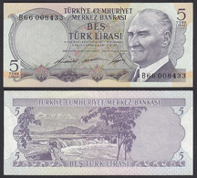 Türkei - Turkey 5 Lira Banknote 1930 (1968) Pick 179 VF/XF (2/3)    (28316 - Turkije