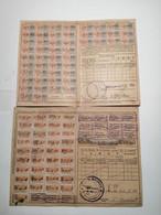 Carte De Quittance Avec Timbres Fiscaux Mulhouse 1875-1919  5pcs - Alsazia-Lorena