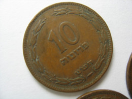 TEMPLATE LISTING ISRAEL LOT OF  40  COINS 10 PRUTA PRUTAH 1949 KM#11 COIN. - Other - Asia
